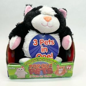 POP OUT PETS CAT Plush As Seen On TV 3 Pets In One